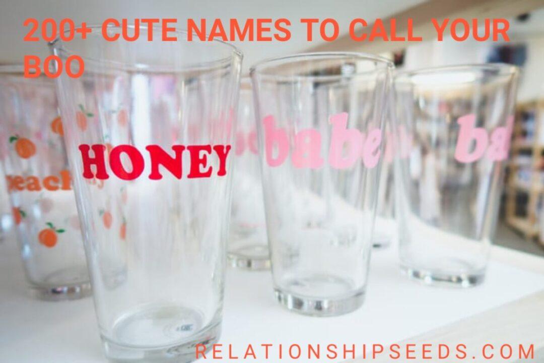 cutes names to call you boy friend/gf